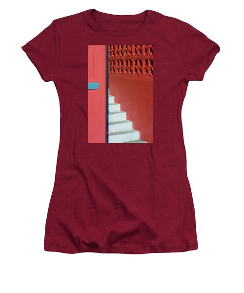 White Staircase Venice Beach California Women's T-Shirt (Athletic Fit)