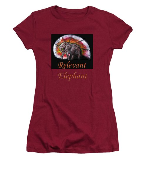 Wild Elephant Women's T-Shirt (Junior Cut) by Tom Conway