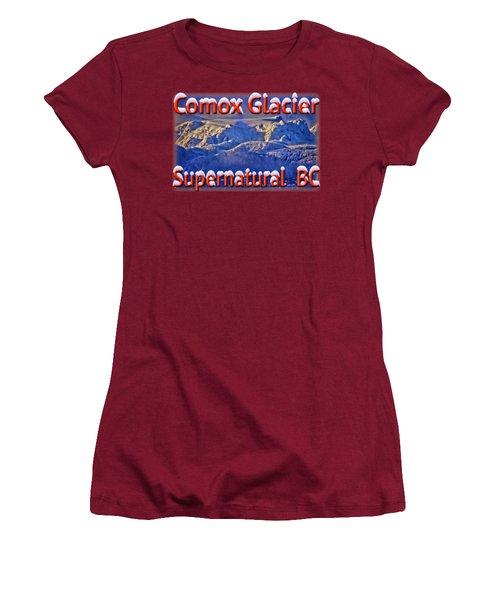Windstorm On Comox Glacier Women's T-Shirt (Junior Cut) by Richard Farrington