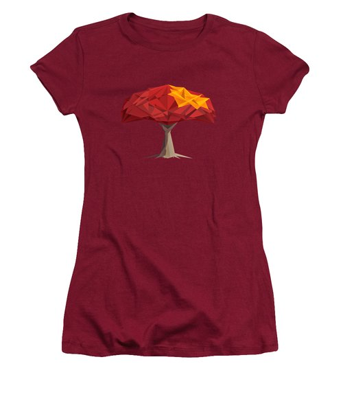 Wired Tree  Women's T-Shirt (Athletic Fit)