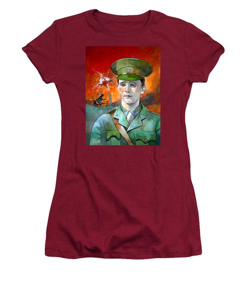Women's T-Shirt (Junior Cut) featuring the painting W.j. Symons Vc by Ray Agius