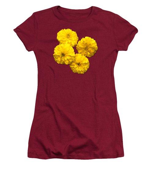 Yellow Flowers Women's T-Shirt (Junior Cut) by Bob Slitzan