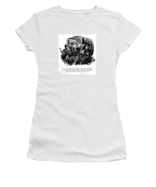 . . . Atter W'ile De Roof Sorter 'gun Ter Leak Women's T-Shirt