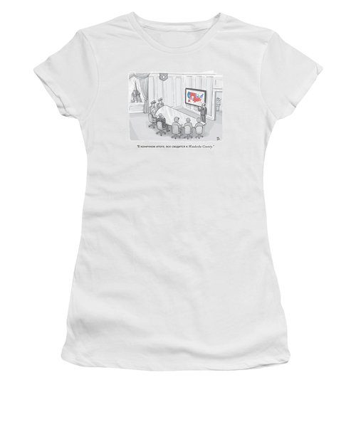Russian Government Monitors Us Elections Women's T-Shirt