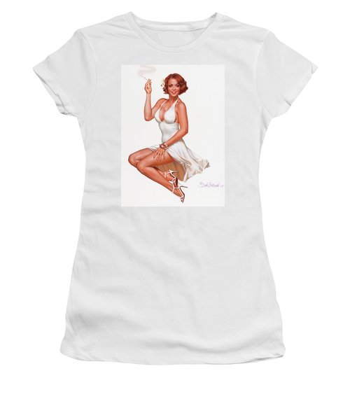 Camel Girl In White Women's T-Shirt (Athletic Fit)