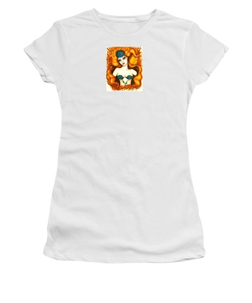 Flower In The Blaze Women's T-Shirt (Athletic Fit)