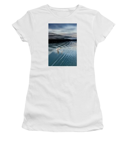 Journey With A Sea Gull Women's T-Shirt (Junior Cut) by Gary Warnimont