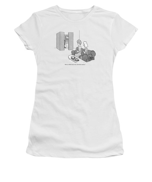 One Woman Says To Another While They Have Tea Women's T-Shirt