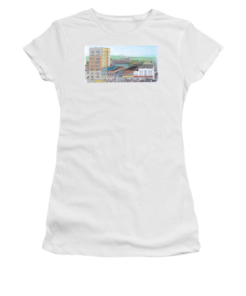 Portsmouth Ohio Dime Store Row 4th To 5th Women's T-Shirt (Junior Cut) by Frank Hunter