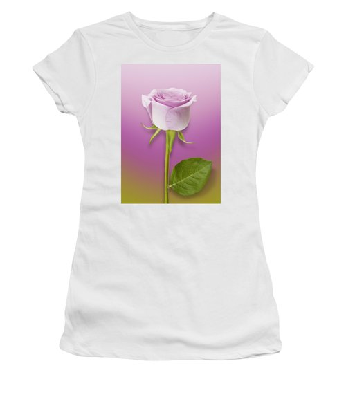 Single Lilac Rose Women's T-Shirt (Athletic Fit)