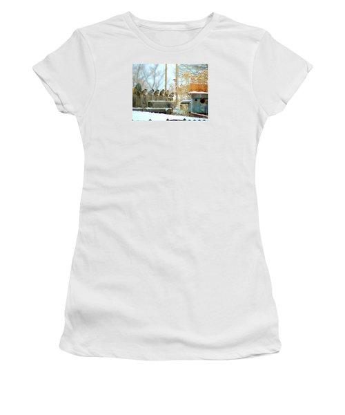 7 Winter Sparrows Women's T-Shirt (Athletic Fit)