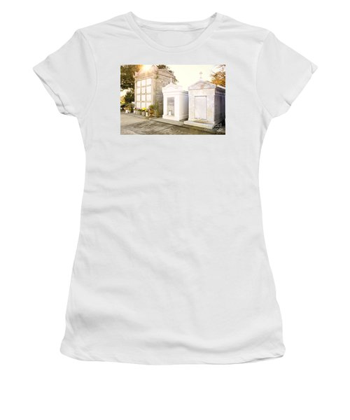 Women's T-Shirt (Junior Cut) featuring the photograph   Tombstones  by Erika Weber