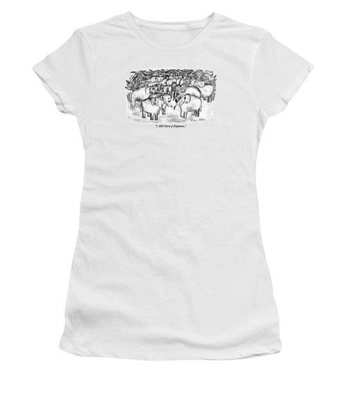 1-800 Herd Of Elephants Women's T-Shirt