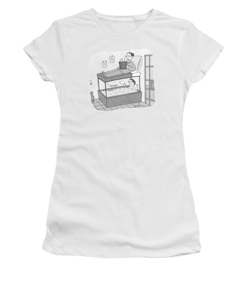 A Bunk Bed With A Bath Tub Instead Of A Lower Bed Women's T-Shirt