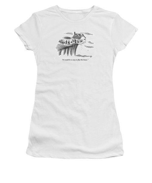 A Couple And A Real Estate Representative Stand Women's T-Shirt