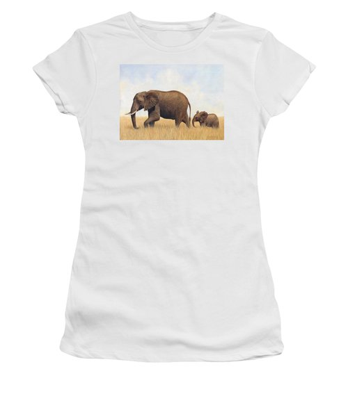 African Elephants Women's T-Shirt