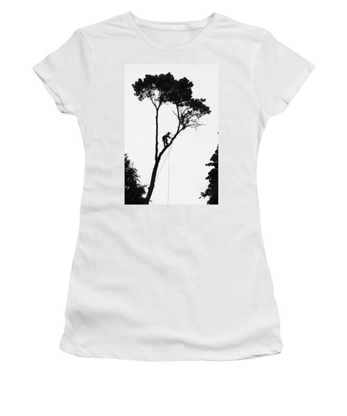 Arborist At Work Women's T-Shirt (Athletic Fit)