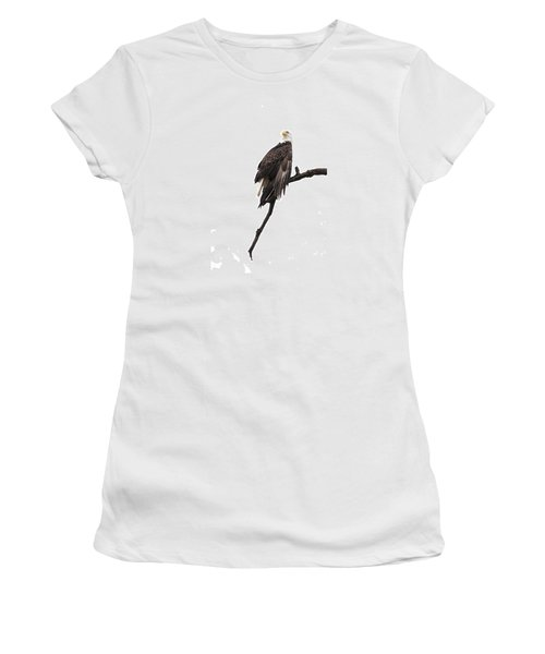 Bald Eagle 5 Women's T-Shirt (Junior Cut) by David Lester
