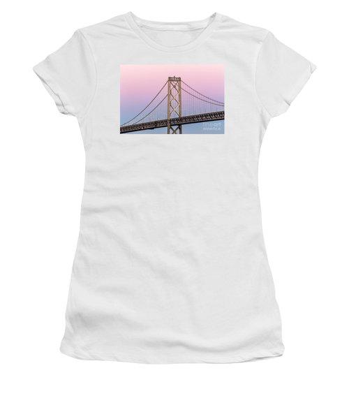 Bay Bridge Lights At Sunset Women's T-Shirt