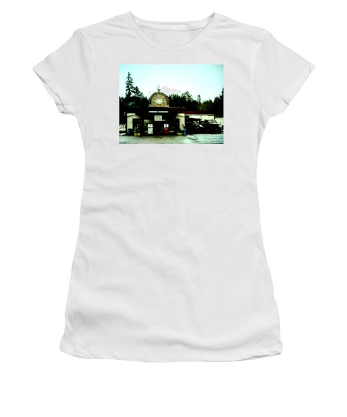 Women's T-Shirt (Junior Cut) featuring the painting Big Eds by Luis Ludzska