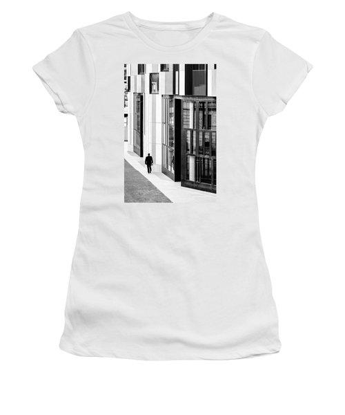 Business Man In Milan Women's T-Shirt (Junior Cut) by Alfio Finocchiaro