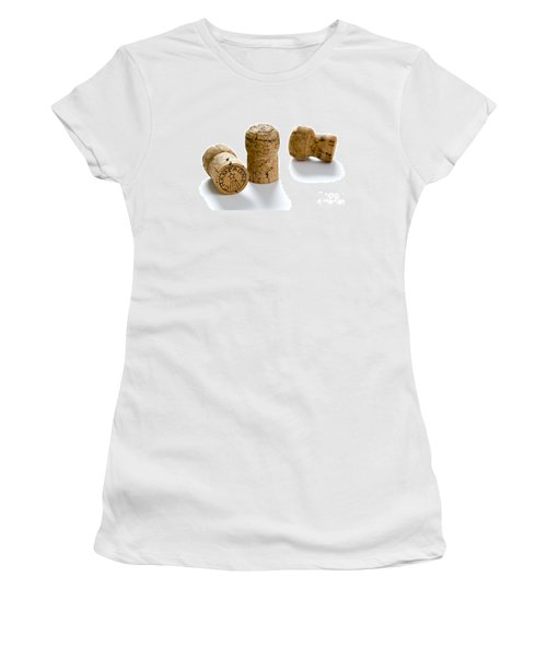 Women's T-Shirt (Junior Cut) featuring the photograph Champagne Corks by Lee Avison