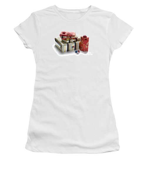 Women's T-Shirt (Junior Cut) featuring the photograph Christmas Gifts by Lee Avison