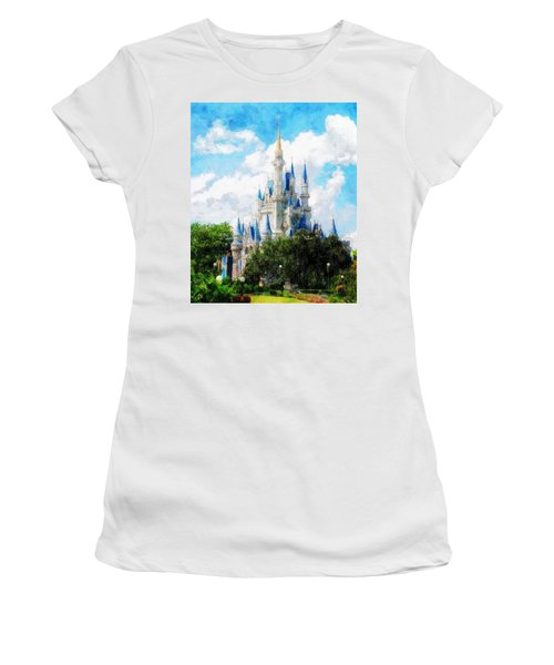 Cinderella Castle Women's T-Shirt (Athletic Fit)