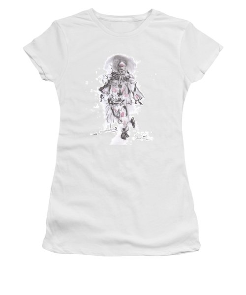 Dancing Clown Women's T-Shirt (Junior Cut) by Laurie L