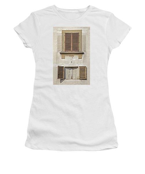 Dueling Windows Of Tuscany Women's T-Shirt