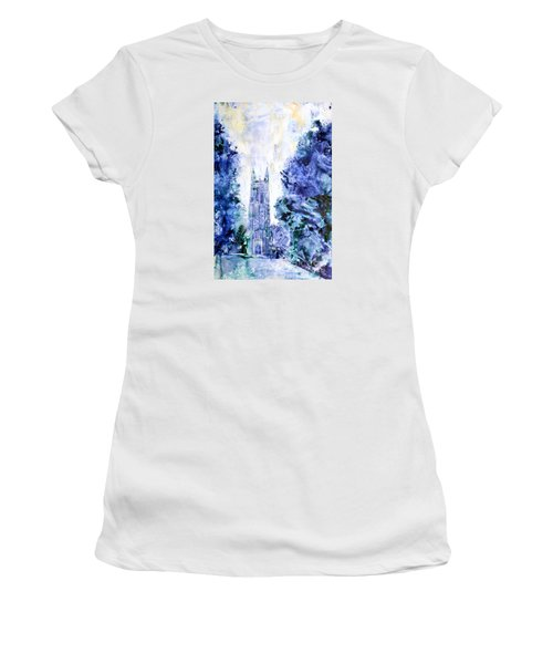 Duke Chapel Women's T-Shirt (Junior Cut) by Ryan Fox