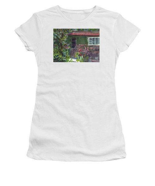 Women's T-Shirt (Junior Cut) featuring the painting Entrance by Donald Maier