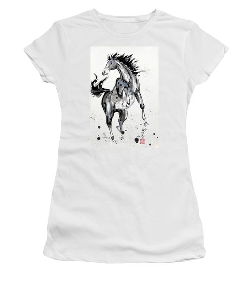 Women's T-Shirt (Junior Cut) featuring the painting Exuberance by Bill Searle