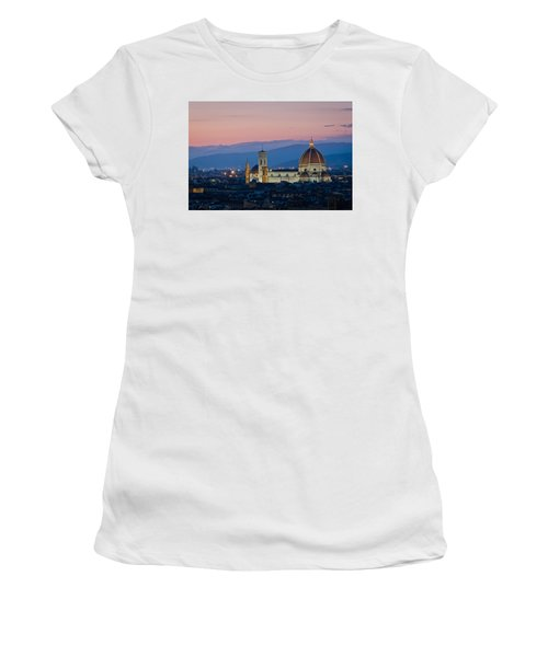 Florence At Sunset Women's T-Shirt (Athletic Fit)