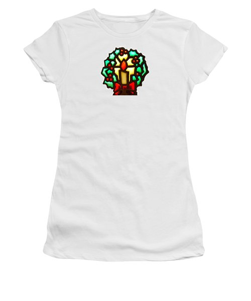 Happy Holidays Women's T-Shirt (Junior Cut) by Ludwig Keck