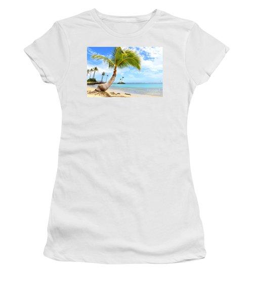 Women's T-Shirt (Junior Cut) featuring the photograph Hawaiian Paradise by Kristine Merc