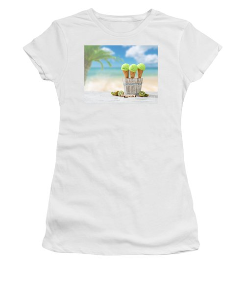 Ice Creams  Women's T-Shirt (Athletic Fit)
