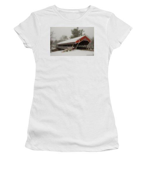 Jackson Nh Covered Bridge Women's T-Shirt (Athletic Fit)