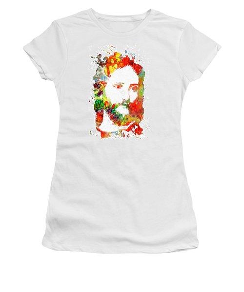 Jesus Christ - Watercolor Women's T-Shirt (Junior Cut)