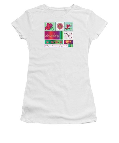 Laugh Women's T-Shirt (Junior Cut) by Iris Gelbart