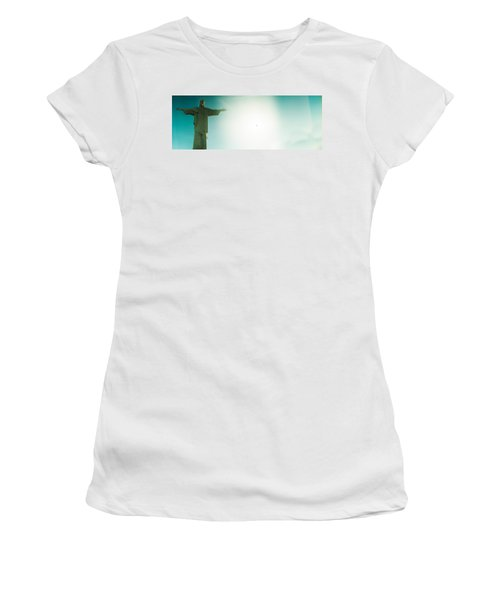 Low Angle View Of Christ The Redeemer Women's T-Shirt