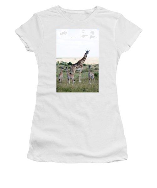 Masai Giraffes Giraffa Camelopardalis Women's T-Shirt