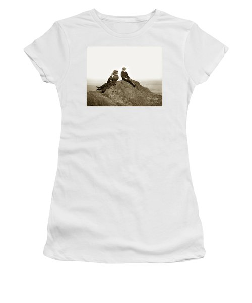 Women's T-Shirt (Junior Cut) featuring the photograph Mount Tamalpais Marin County  Circa 1902 by California Views Mr Pat Hathaway Archives