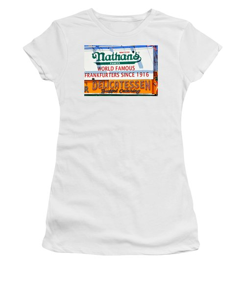 Nathan's Sign Women's T-Shirt (Junior Cut) by Valentino Visentini