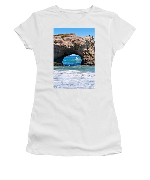 Natural Bridges State Beach In Santa Cruz California. Women's T-Shirt
