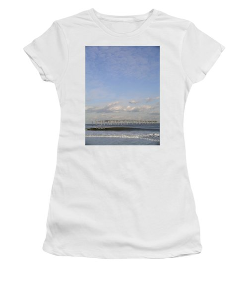 Pier Wave Women's T-Shirt (Athletic Fit)