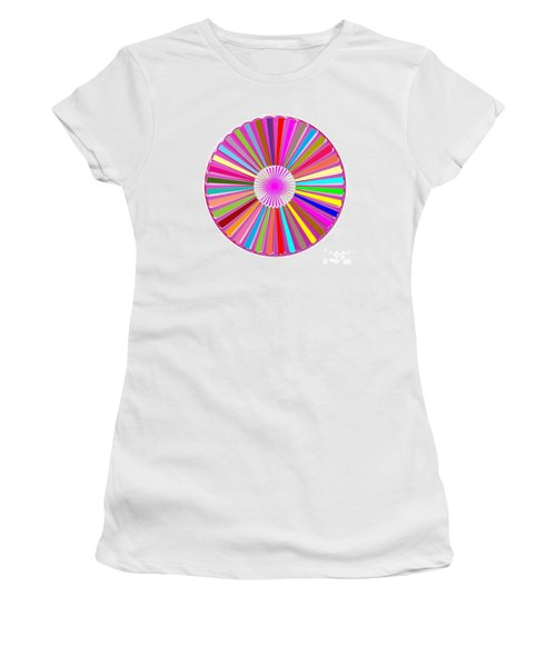 Colorful Signature Art Chakra Round Mandala By Navinjoshi At Fineartamerica.com Rare Fineart Images  Women's T-Shirt (Athletic Fit)