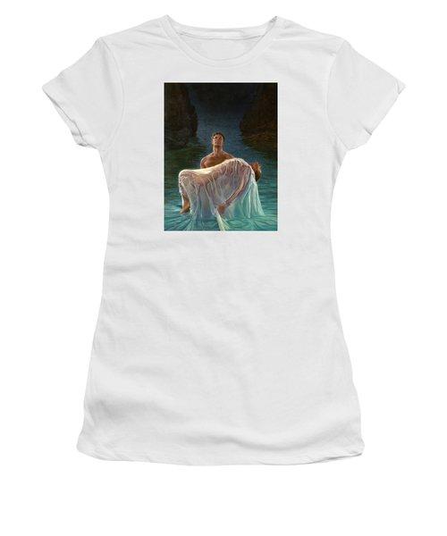 Women's T-Shirt (Junior Cut) featuring the painting Resurrection by Mia Tavonatti