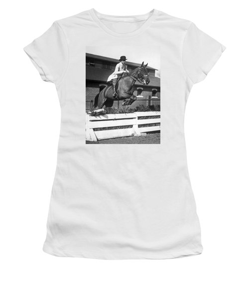 Rider Jumps At Horse Show Women's T-Shirt