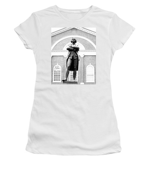 Samuel Adams Statue, State House Boston Ma Women's T-Shirt
